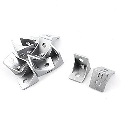 uxcell 10 Pcs 90 Degree 8mm Hole Dia Furniture Door Angle Bracket 34mm x 34mm