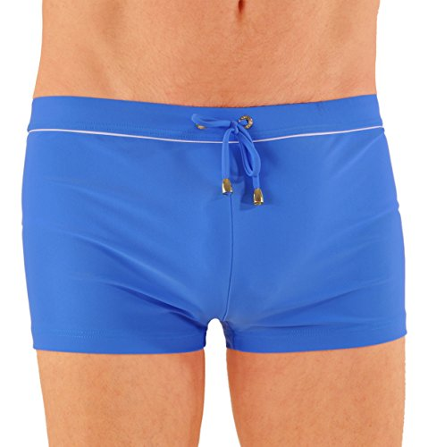 James Bond Style Swim Boxer Made in Italy - X-Large/Blue