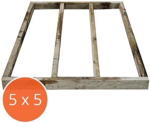 5 x 5 Portabase DIY Kit Base de caseta de madera tratada a presión y lugar de descanso por Walton: Amazon.es: Jardín