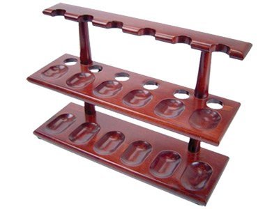 Tobacco Pipe Stand Furniture 2 Tier Rack for 12 Pipe Stand by F.e.s.s.