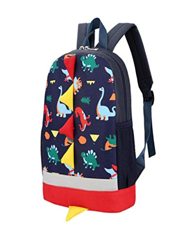 Slim Baby Vpass Animals Girls Toddler Pattern Boys Blue Casual Leather Bag Student Dark School Dinosaur Kids Backpack zxwT8nq
