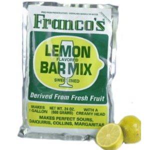 Cocktail Mix Franco's Lemon Bar Mix 6 Oz.single Pouch/ 1 Quart (Sweet And Sour Powder Mix)