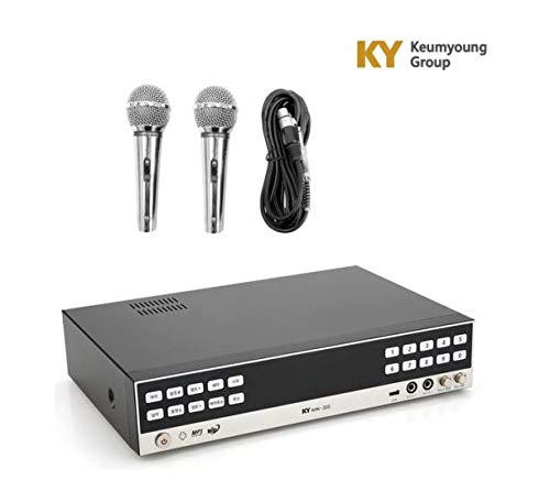 New KumYoung HDD KHK-300 Home Party Korean Karaoke Singing Machine System 2 MIC, Song Book - Songs Karaoke System