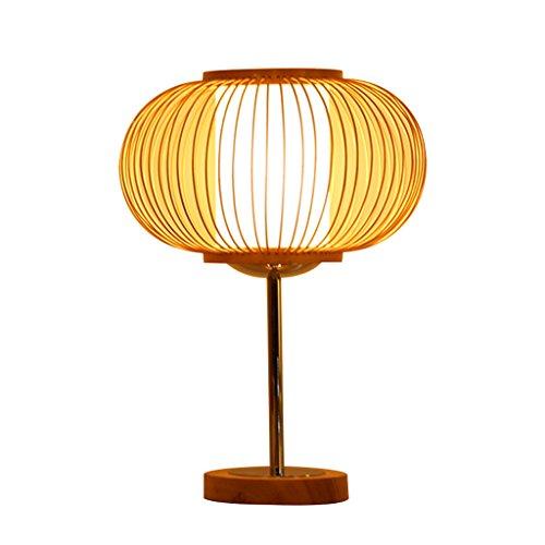 TangMengYun Lámpara de mesa de bambú del sudeste asiático, lámpara del dormitorio de la cabecera de la protección del ojo caliente, lámpara de escritorio de la sala de estudio de la lámpara de mesa de