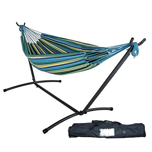 Apollo Box Double Hammock Combo with 9' Stand and Carry Bag, Oasis