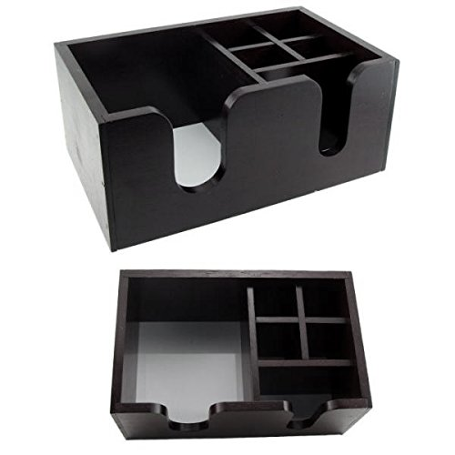 (Wooden Bar Caddy - Black)