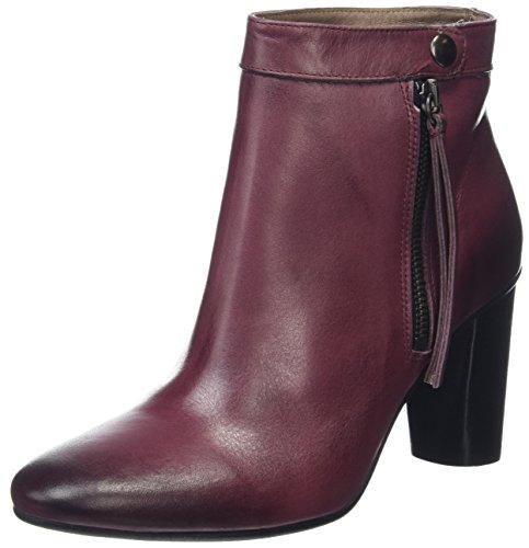 Hudson London Damen Mimi Calf Kurzschaft Stiefel Purple (Bordo)