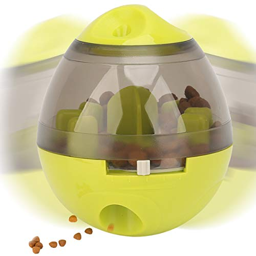 NOYAL Dog Food Dispenser Ball Toy, Fun and Interactive Roly-Poly Toy Ball for Small and Medium Dogs Cats Increase…