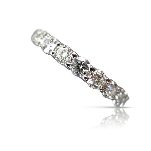 Milano Jewelers LARGE 3.65CT DIAMOND 14KT WHITE GOLD SHARED PRONG ETERNITY RING #21670 ()