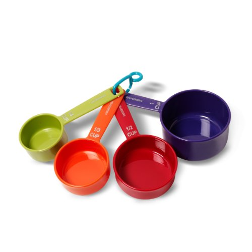 Farberware Color Measuring Cups, Mixed Colors, Set of 4 (Best Dry Measuring Cups)