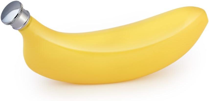 Bananen-Flachmann Edelstahl Gelb und Trichter 142 ml