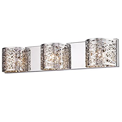 Dazhuan Vintage Crystal 3-Lights Wall Lighting Stainless Steel Bath Vanity Light Wall Lamp Sconce