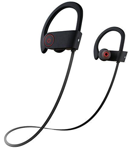 Bluetooth Headphones, Otium Wireless Eardbuds -Sport Sweatproof -Stereo with Bass, Noise Cancelling -Ergonomic Design, Secure Fit -In-Ear Headsets Bluetooth V4.1