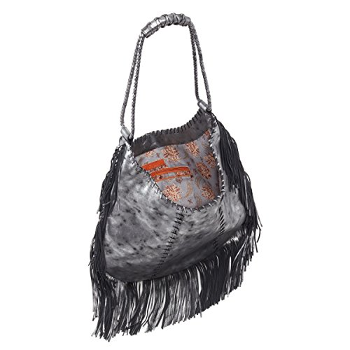 Bag HOBO Shoulder Smoke Gypsy in Fringe rYwrt