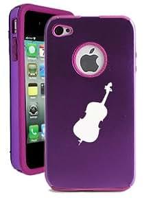 SudysAccessories Cello iPhone 4 Case iPhone 4S Case - MetalTouch Purple Aluminium Shell With Silicone Inner Protective Designer Case