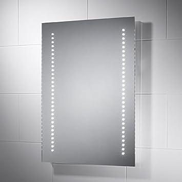 Pebble Grey Rectangular Tannon LED Illuminated Bathroom Mirror With Lights 500mmW X 700mm