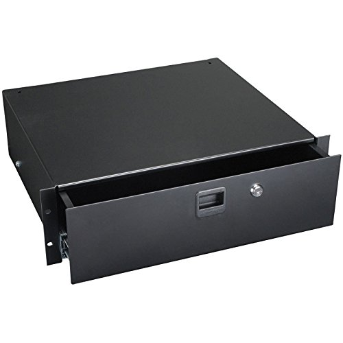 Penn Elcom 3233LK 3 Space (3U) Steel Rack Drawer with Slam Latch & Keyed Lock, 15.25'' Deep ()
