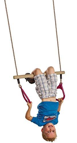 Multi-Colour KBT 5413050011547/Wooden Trapeze with Kunststoffringen Purple Ring Trapeze Wood