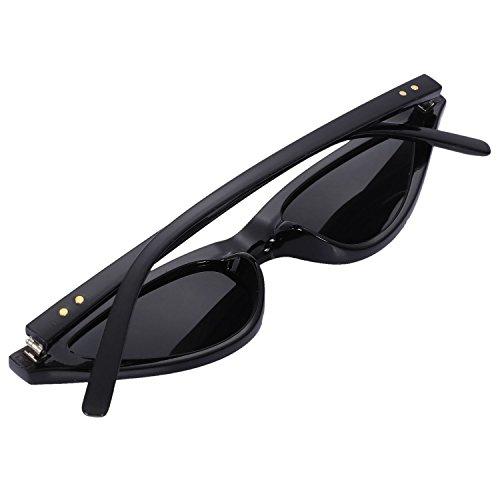 Uv400 Sole Leopardo Nero Triangle Da Eye Toogoo Alla Moda Vintage Cateye Donna Occhiali Small Cat eyeglasses 0nwNy8Ovm