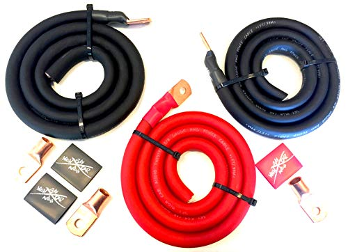 Used, Sky High Oversized 2/0 Gauge AWG Big 3 Upgrade RED/Black for sale  Delivered anywhere in USA
