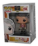 Funko Carol Peletier: Walking Dead x POP! TV Vinyl Figure & 1 PET Plastic Graphical Protector Bundle [#156 / 04679 - B]