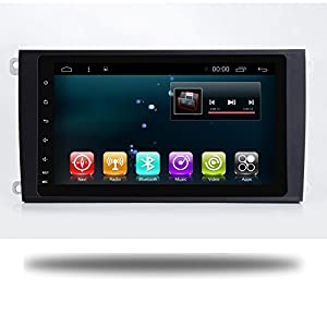 9 Inch Android 7.1 Quad Core Car GPS Stereo for Porsche Cayenne 2003-2010 Head Unit Autoradio Navi 1024 HD Touch Screen Car Player Radio Receiver Navigation (32 G for High distribution with amplifier)