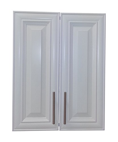 Wood Cabinets Direct TER-227-WH Terrell 2-Door Recessed Frameless Medicine Cabinet, 27