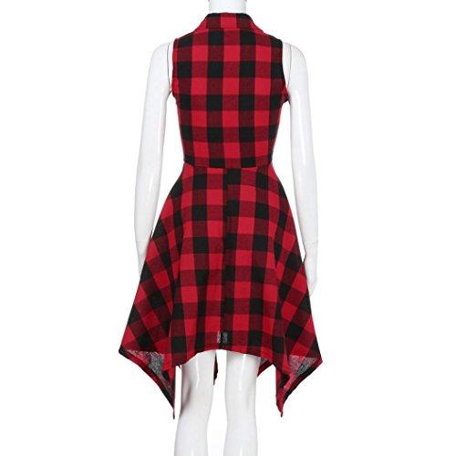 A Vestito Con Aderenti Donna Da Vintage Sera Lunghe Ribaltabile Aderente Elegante Collare Maniche Rosso Abito wwrfYqF