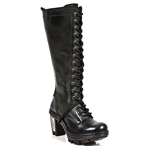 New Rock Neo Trail Damen Leder Schwarz Stiefel M.NEOTR013-S1 BLACK, BLACK