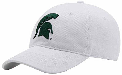 NCAA Michigan State Spartans Adult Unisex Epic Washed Twill Cap, Adjustable, White