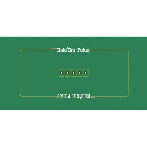 Trademark Poker Texas Holdem Layout, 36 x 72-Inch (Poker Table Top Felt)