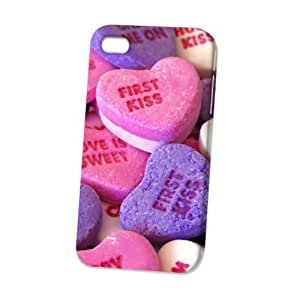 Case Fun Apple iPhone 4 / 4S Case - Vogue Version - 3D Full Wrap - First Kiss Sweets