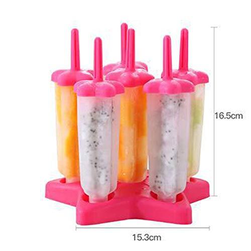 Molde para Helados, Moldes de Paletas BPA y Reutilizable Moldes de Polos Frozen Yogurt Helado Pop Mold Popsicle para Niños Lolly Maker Moldes: Amazon.es: ...