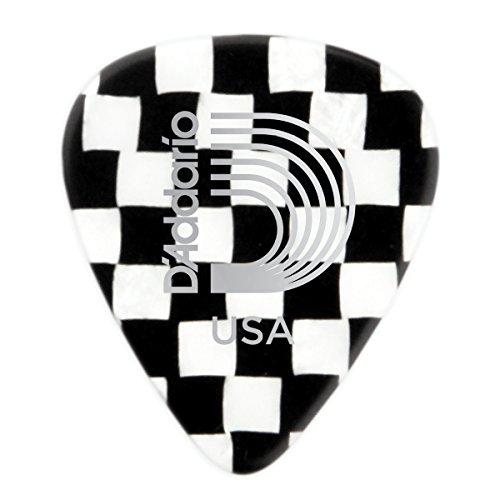 D'Addario Checkerboard Celluloid Guitar Picks, Heavy, 100 Pack