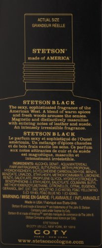 Stetson Black Aftershave Balm with Aloe