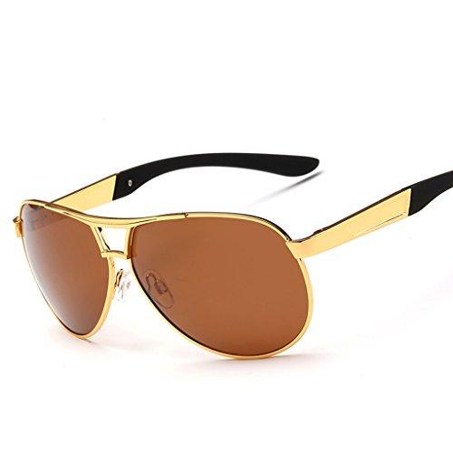 de Sol Color C de Espejo Hombre D Polarizador Conducción de Driver Coating Rana Sol Cool Gafas Gafas Gafas Sol de Espejo Hipster Espejo wapqwRI