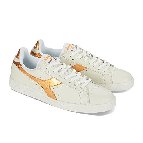 Game Diadora Collo Sneaker C1070 Bianco Metallic A oro Uomo Basso wwqHPrd