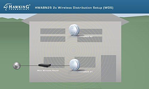 Hawking Technology Hi-Gain Wireless-300N Multifunction Access Point, Bridge, Repeater and Range Extender w/PoE Support (HWABN25) by Hawking Technology (Image #2)