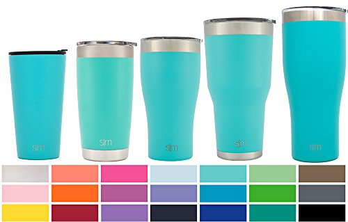 Simple Modern Pint 16oz Tumbler - Vacuum Insulated Double Wall 18/8 Stainless Steel Hydro Trazel Mug - Coffee Cup Flask - Caribbean