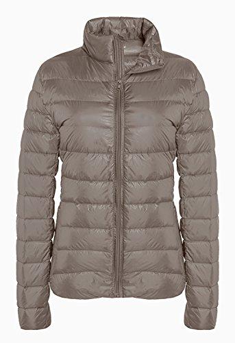 ZSHOW Women's Outwear Down Coat Lightweight Packable Powder Pillow Down Jackets, US X-Large, Light Camel (Pillow Shells Quilted)