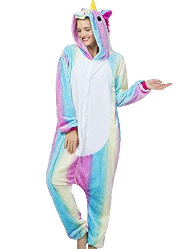 iSZEYU Adult Pajamas Unicorn Costume Onesies For Women Men Teen Girl Animal Onsie (Onesie For Men Costumes)