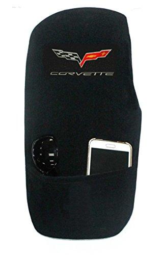 Chevrolet Black Corvette - Seat Armour Custom Fit 'Konsole Armour' Center Console Cover for Select Chevrolet Corvette C6 Models (Black)