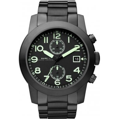 Marc by Marc Jacobs MBM5032 Mens Black IP Larry Chronograph Watch