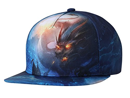NUZADA 3D Snapback Baseball Cap Print Men Women Dance Baseball Hat with Adjustable -