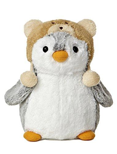"Aurora Pompom 9"" Penguin Plush from World (Brown Hat)"