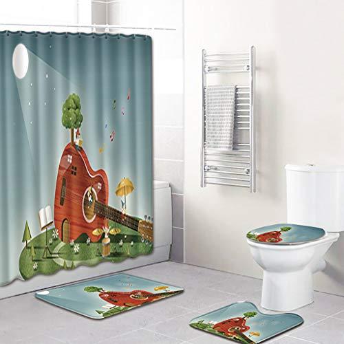 (Nautical Shower Curtain Marine Sail Boat Beach Starfish Shell Sea Life Bathroom Decor Bathroom Accessory with Hooks)