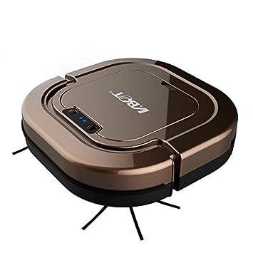 Robot Aspirador- Inteligente Anti-Caída Prevención De Colisiones, Cuatro Modos De Limpieza- Recarga Automática, Aspirado Fuerte, Eficaz contra El Pelo De ...