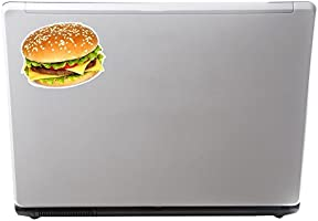 2 x Cheeseburger Burger Vinyl Sticker Laptop Travel Luggage Car #6290