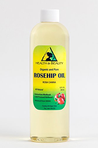 Rosehip Seed Oil Organic Refined Cold Pressed Premium 100% Pure 24 oz