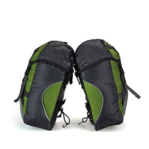 Fahrrad Double Nierentasche Zwei-in-One Kamel Tasche Benutzerdefinierte Haken Schnalle Seitentasche Griff kommt mit Regen Abdeckung